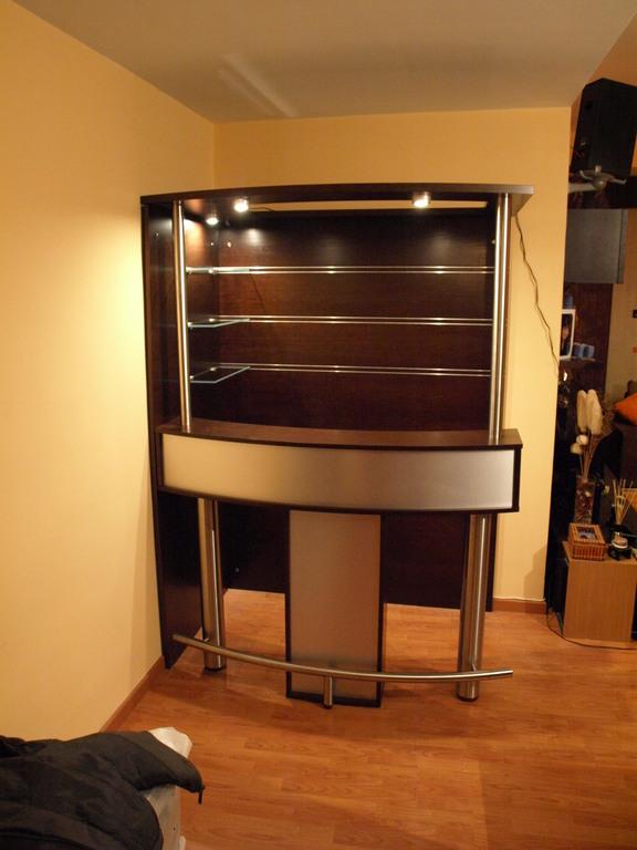 Barra de bar manhattan variante 1 variante for Bares madera modelos