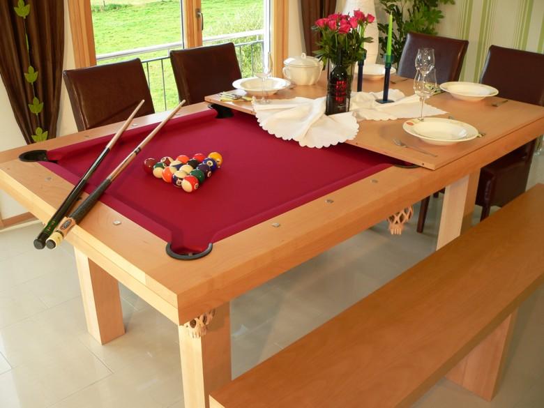 Mesa de comedor billar - Mesa billar convertible ...