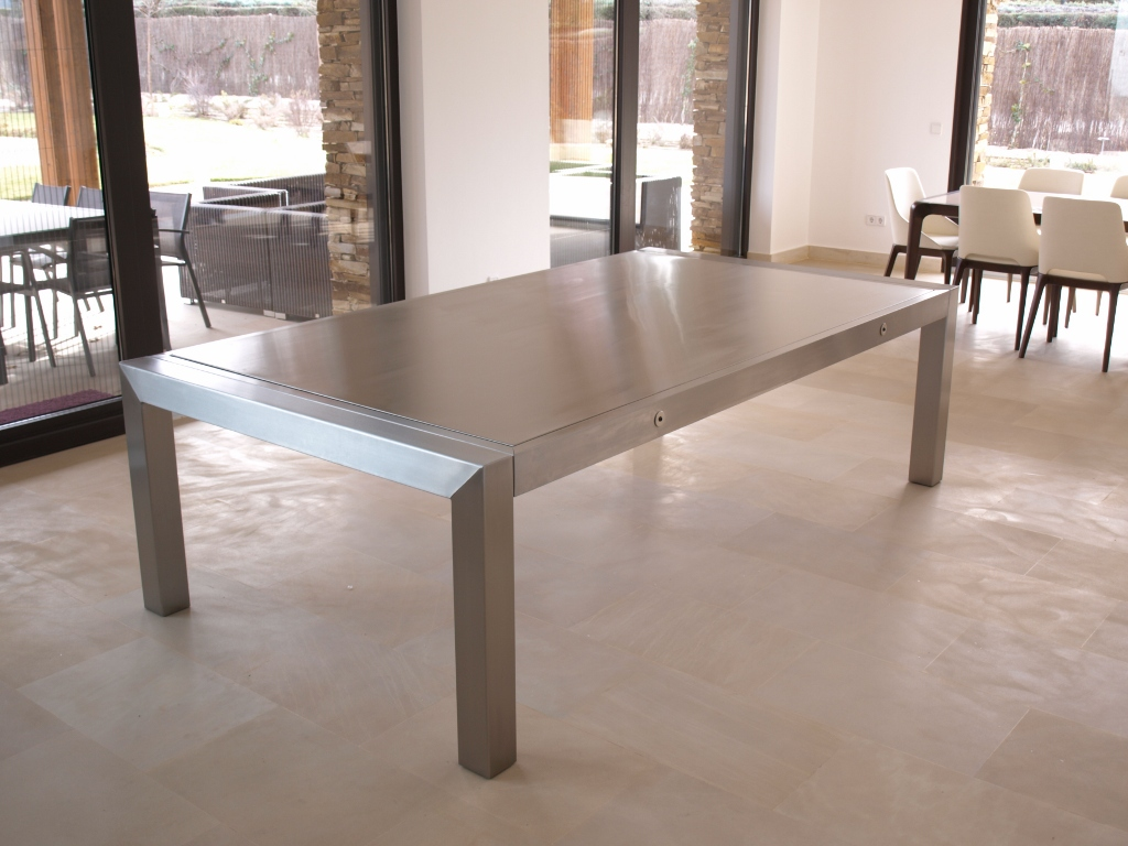 Mesa de billar comedor bl 180 metal pool for Mesas comedor metal