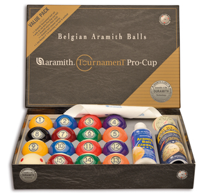 Bolas Pool Aramith Tournament Pro Cup Value Pack